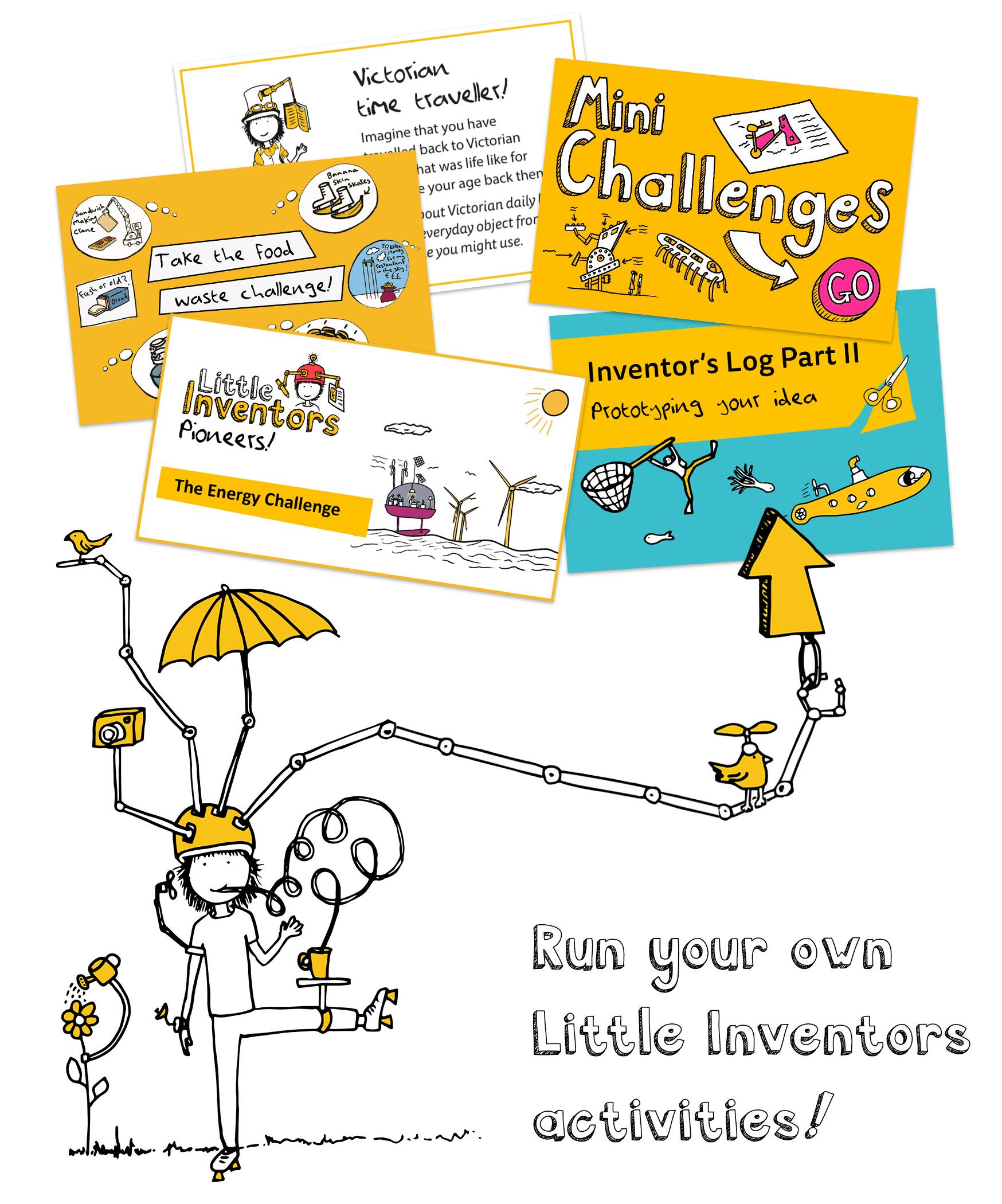 Run your own Little Inventors activities!